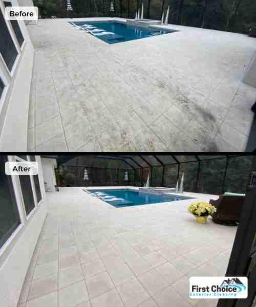 Nocatee pool deck cleaning
