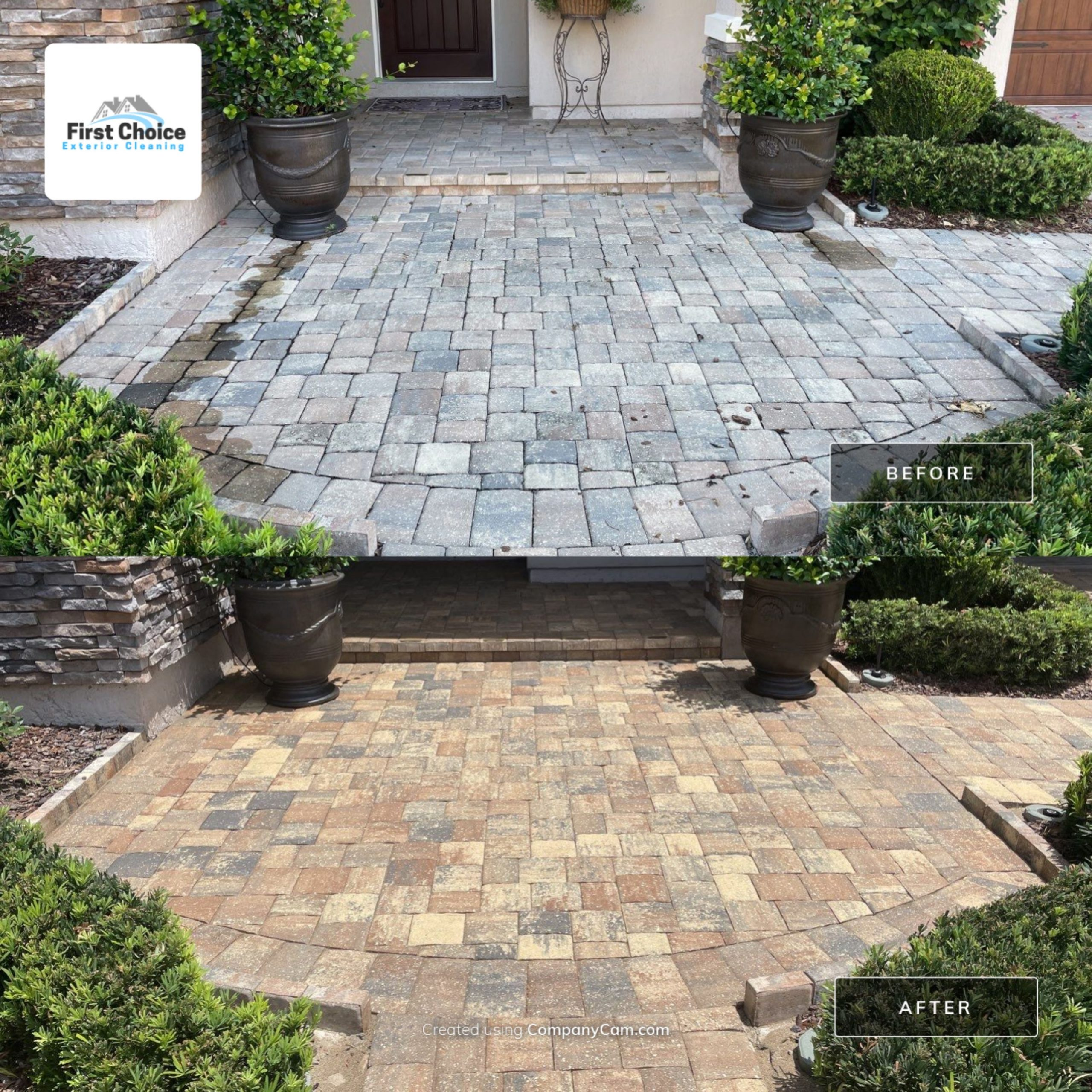 sealed entryway pavers